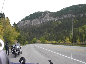 motorcycle ride, South Dakota