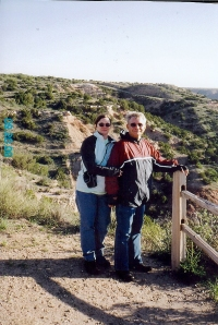 Janet & me (Ivan) at Palo Duro Canyon welcome center.